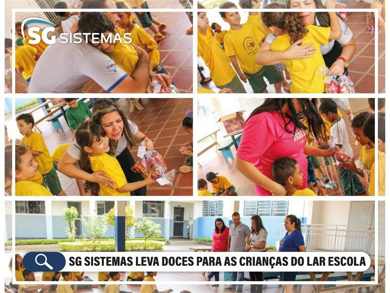 SG Sistemas leva doces para as Crianças do Lar Escola