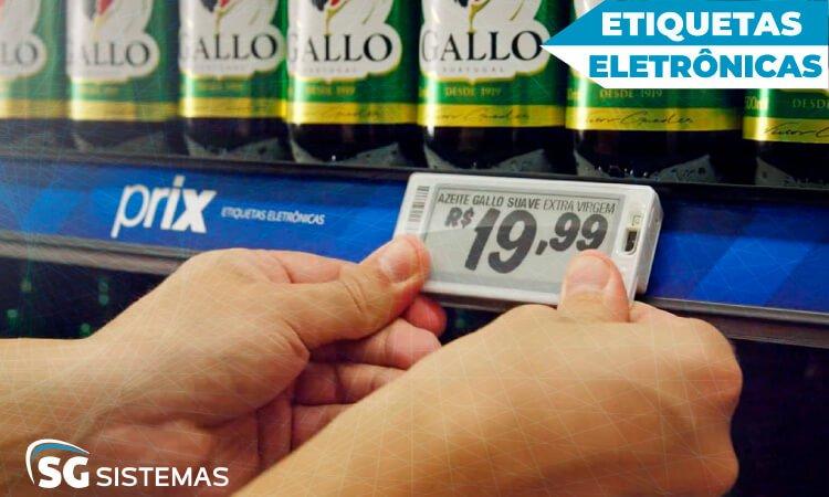 Etiquetas eletrônicas de preço, tecnologias para supermercados.