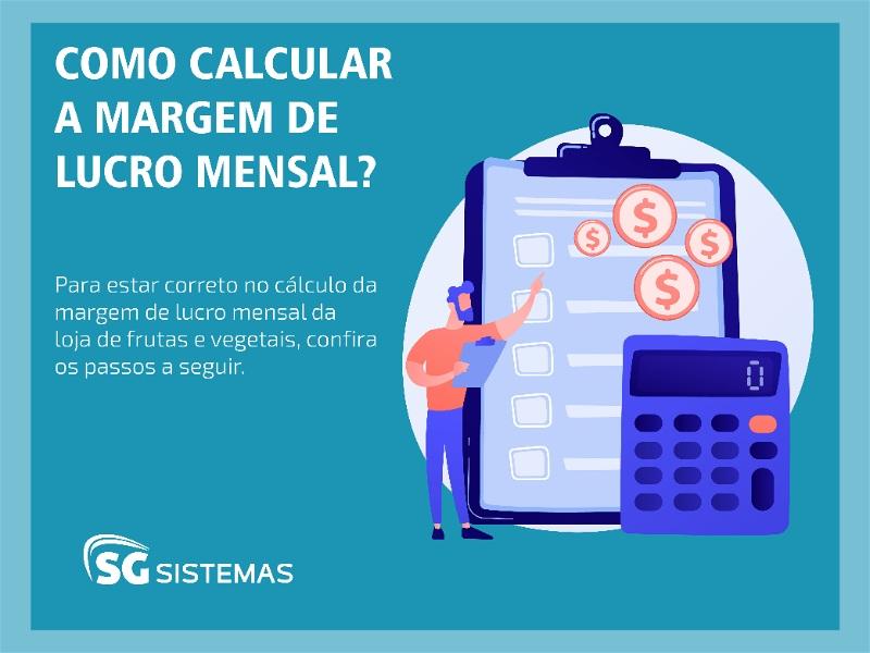 como calcular a margem de lucro mensal hortifruti