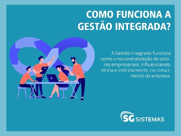 Ilustração de pessoas trabalhando em uma gestão integrada